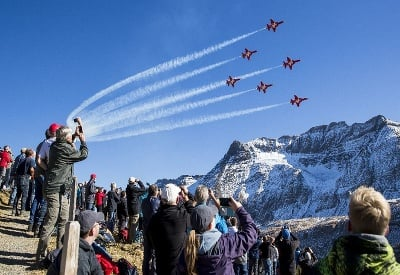 Letecká šou Axalp vo Švajčiarsku