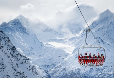 Santovia na lyžiach