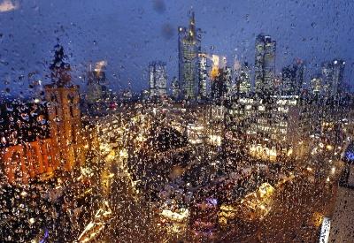Dážď vo Frankfurte