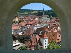 Český Krumlov cez okienko