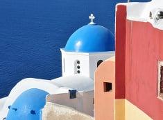 Santorini a jeho farbičky