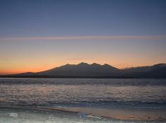 Východ slnka za ostrovmi