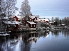Mestečko Sundborn vo Švédsku