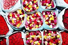 Kvety na thajských trhoch
