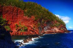 Havajská červená pláž