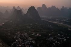 Výhľad na čínske vrchy