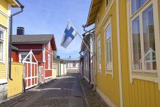 Tradičná fínska dedinka