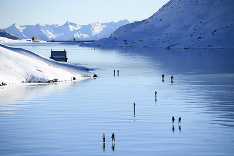 Švajčiarske jazero Lago Bianco