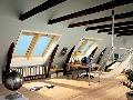 Manzardový tvar strechy pomocou