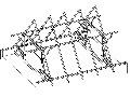 Axonometrický pohľad na väznicovú