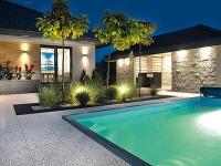 Okolo bazéna. Pre záhradné