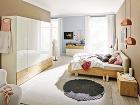 Drevená konštrukcia postele ačalúnené