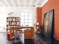 Tehlová stena v byte