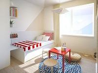 Detská izba pre troch súrodencov zariadená v námorníckom štýle