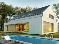 Kombinácia sedlovej strechy s plochou? Originálny dom za prijateľnú cenu!