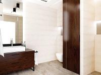 V kúpeľni je navrhnutých