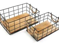 Súprava dvoch úložných košíkov