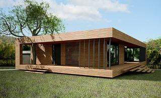 Jednopodlažná drevostavba ponúka harmonické bývanie kúsok od lesa