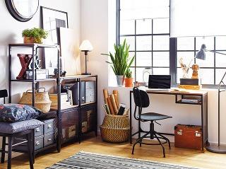 RUSTIKÁLNY STÔL FJÄLLBO zkovu amasívneho dreva poskytuje funkčný aflexibilný pracovný priestor. 100 × 36 cm, IKEA