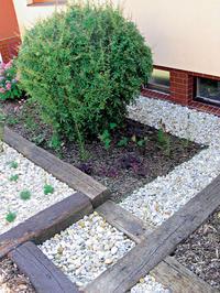 Plán záhrady, stavebné prvky
