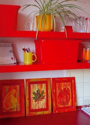 Kuchyňu ladili do červena
