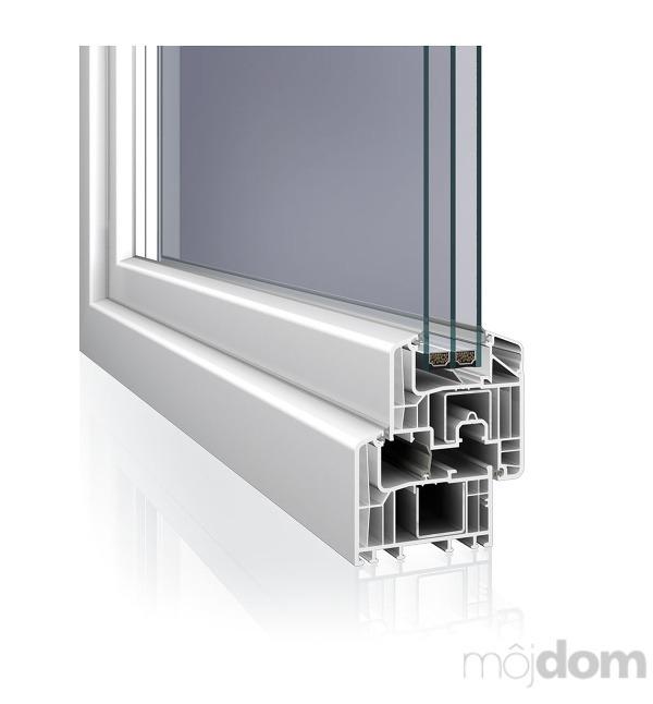 Šesťkomorový okenný profil Eforte