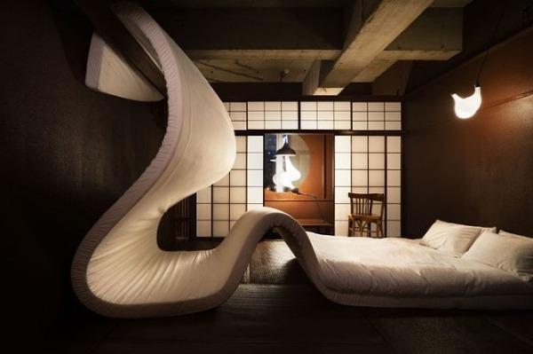 Izba navrhnutá tímom architektov pod vedením architekta jo nagasaka