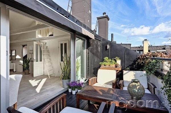 Podkrovný byt vo Švédsku
