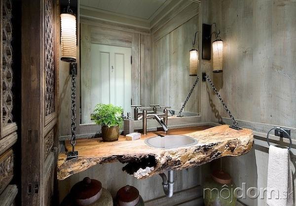 10 x surové a nespracované drevo v interéri