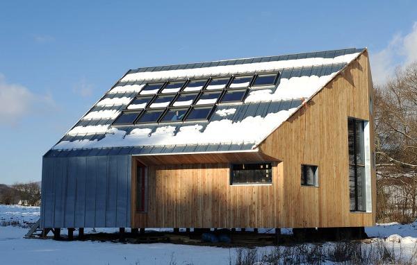 Pasívny drevo-slamený dom na