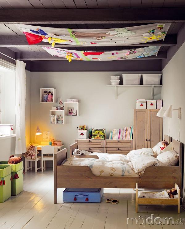Textiln dekor cia v interi ri ako na to - Ikea textil cama ...