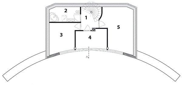 Pôdorys poschodia 1 chodba
