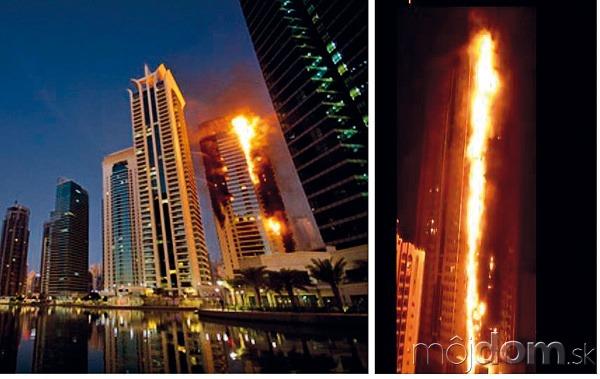 Požiar 34-poschodovej výškovej budovy