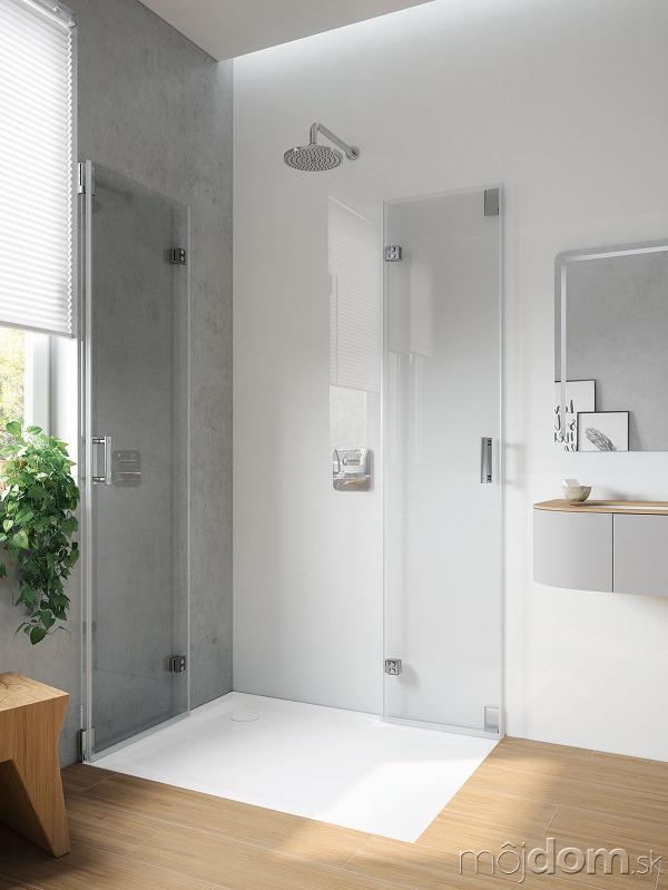 Sprchový kút so sklenenými