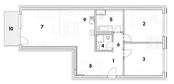 trojizbový byt 1 predsieň