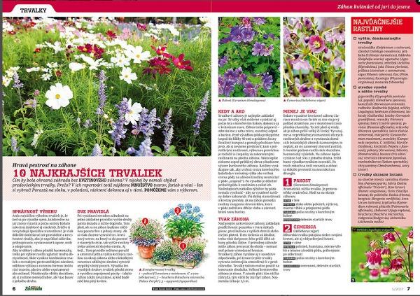 Aktuálne číslo časopisu Záhrada