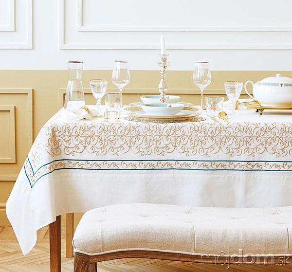 Obrus svýšivkou, bavlna, 170