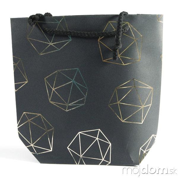 Darčeková taška Cadre včierno-zlatej
