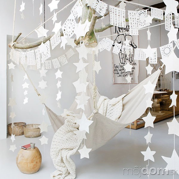 Girlanda vtvare hviezd, papier