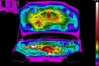 Termokamera ukázala, ako horúce dokážu byť časti auta