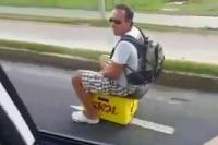 Nový motorový prostriedok – prepravka na pivo...