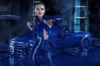 Natasha Poly a Mercedes