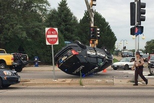 Fridley Police crash