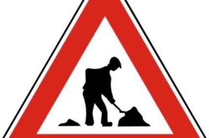 Pozor, práca na ceste!