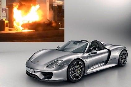 video najr chlej ie auto sveta porsche 918 za 800 tis c zhorelo pri tankovan. Black Bedroom Furniture Sets. Home Design Ideas