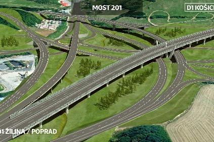 Križovatka Prešov Západ D1