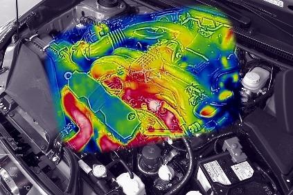 Termovízia motora na voľnobeh