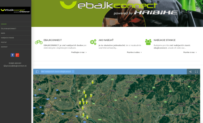 Mapa ebajk connect