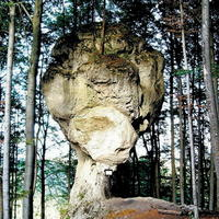 Tento zaujímavý skalný útvar nájdete v Rajeckej doline.