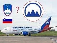 Logo Slovakian Airlines pripomína slovinský znak